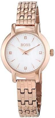 HUGO BOSS Ladies Success Women's Quartz Mother of Pearl Analogue Classic Rosegold Stainless Steel Bracelet 1502379