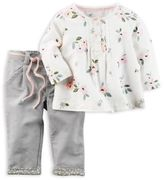 Carter's 2-Piece Floral Pant Set in Ivory