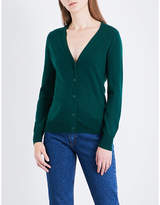 Sandro V-neck wool and cashmere-blend cardigan