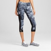 Champion Women's Run Capri - Dark Gray/Tonal Feather Swirl Print