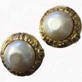 Chanel Baroque Gold Metal Earrings