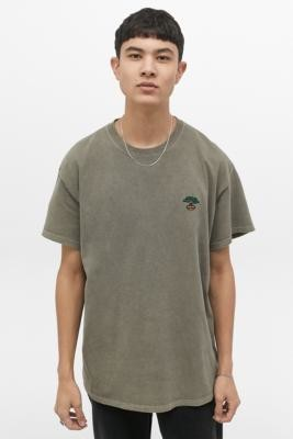 Urban Outfitters Tree Overdyed T-Shirt - green XS at