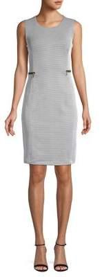 Calvin Klein Jacquard Zipper Sheath Dress