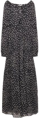 Stella McCartney Gathered Polka-dot Cotton And Silk-blend Voile Maxi Dress