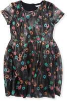 Little Marc Jacobs Girl's Silk-Blend Flare Dress