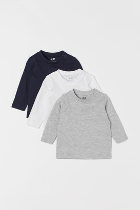H&M 3-pack Jersey Shirts - Blue
