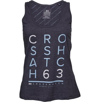 Crosshatch Womens Sally CH 63 Printed Vest Taped Night Sky Marl