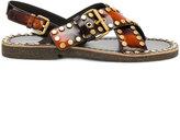 Prada burned effect studded sandals