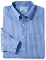 L.L. Bean L.L.Bean Wrinkle-Free Pinpoint Oxford Shirt, Long-Sleeve Slim Fit Tattersall