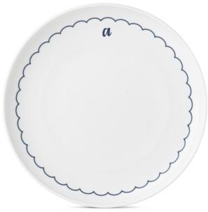 Lenox Navy Scallop Monogram Dinner Plate