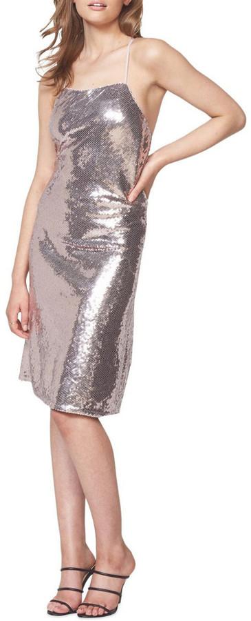 Bardot Sequin Slip Dress