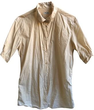 Miu Miu Beige Cotton Top for Women Vintage