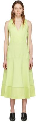 Proenza Schouler Yellow White Label Sleeveless Deep V Dress