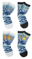 Character Pokemon 4 Pair Pack of Camo Print Socks, Men's