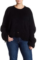 Cotton Emporium Deconstructed Chunky Knit Sweater (Plus Size)