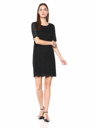 Lark & Ro Women's Half Sleeve Lace Crewneck Sheath Dress