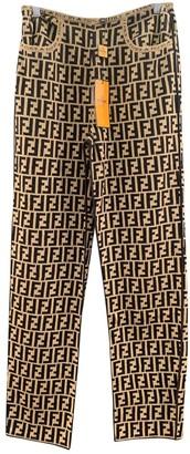 Fendi Camel Wool Trousers
