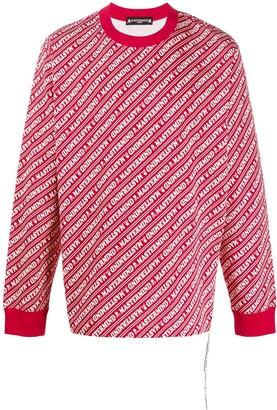 Mastermind Japan All-Over Logo Sweatshirt