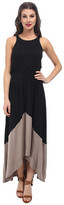 Michael Stars Sleeveless Crew Neck High-Low Maxi Dress
