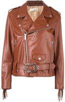 Golden Goose Deluxe Brand fringed sleeve biker jacket