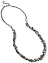 INC International Concepts Hematite-Tone Multi-Star Long Statement Necklace, Only at Macy's