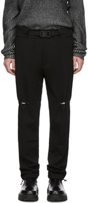 Alyx Black Gaiter Buckle Trousers