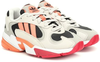 adidas Yung 1 nubuck and mesh sneakers
