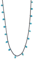 Ten Thousand Things Foxtail Chain Necklace with Turquoise Beads