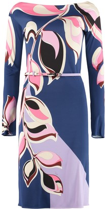 Emilio Pucci Printed Jersey Sheath-dress