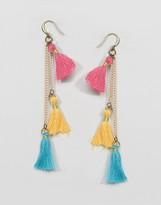 NY:LON Tassel Drop Earrings