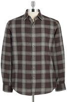 Black Brown 1826 Plaid Cotton Sportshirt