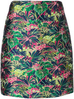 MSGM floral embroidered mini skirt