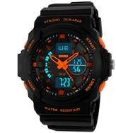 OWIKAR Boy's Girl's Multifunction Military S-shock Sports Wrist Watch LED Analog Water Resistant Children Kids
