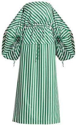 Rosie Assoulin Off-The-Shoulder Balloon-Sleeve Cocktail Dress