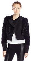 BCBGMAXAZRIA Women's Breton Faux Fur Jacket