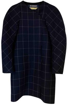 Jacquemus La Femme Enfant Navy Wool Coat for Women
