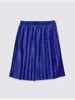 Marks and Spencer Pleated Velvet Skirt (3-14 Years)