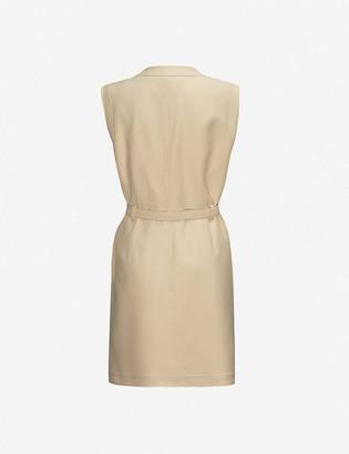 Gucci Sleeveless wool and silk-blend mini dress