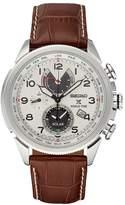 Seiko Men's Prospex Leather Solar World Time Watch - SSC509