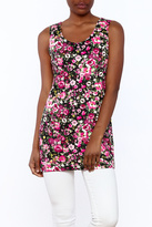 Private Label Floral Tunic Top
