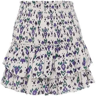 Etoile Isabel Marant Frinley Printed Cotton Mini Skirt