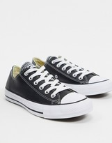 Converse Chuck Taylor All Star Ox Black Leather Sneakers