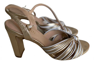 Minelli Gold Leather Sandals