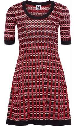 M Missoni Fluted Crochet-Knit Mini Dress