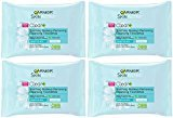 Garnier Clean+ Soothing Makeup Removing Cleansing Towelettes, 25 Count (Pack of 4)
