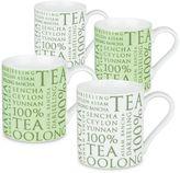 "Konitz 100% Tea"" Mugs (Set of 4)"