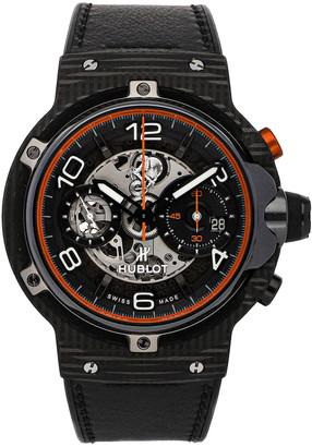 Hublot Black Carbon Fibre Ferrari GT Unico 3D Flyback Chronograph Limited Edition 526.QB.0124.VR Men's Wristwatch 45 MM
