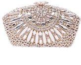 Fawziya®Crystal Purse With Flower Snap Elegant Ladies Party Clutch Handbag