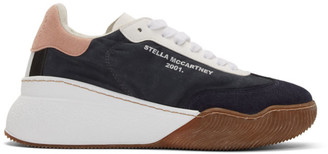 Stella McCartney Navy Loop Lace-Up Sneakers