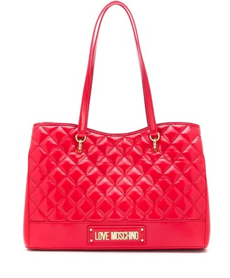 Love Moschino quilted-effect tote bag